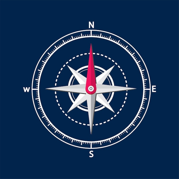 Illustration des kompassses Kostenlosen Vektoren