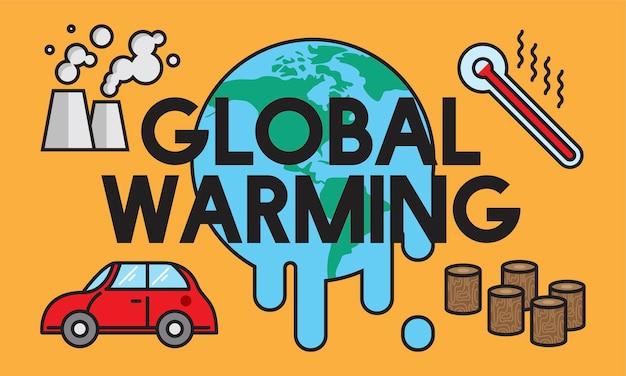 Illustration des konzeptes der globalen erwärmung Kostenlosen Vektoren