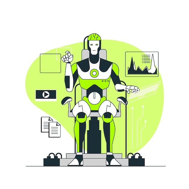 Illustration des konzepts der künstlichen intelligenz Kostenlosen Vektoren