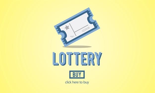 Illustration des lottospiels Kostenlosen Vektoren