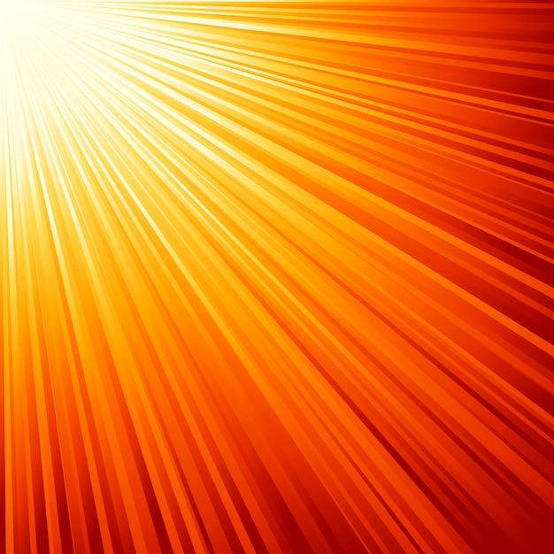 Illustration des orangefarbenen sonnenstrahls. Premium Vektoren