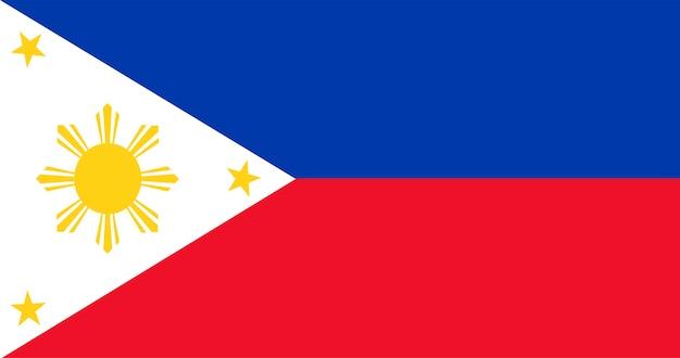 Illustration des philippinesflag Kostenlosen Vektoren