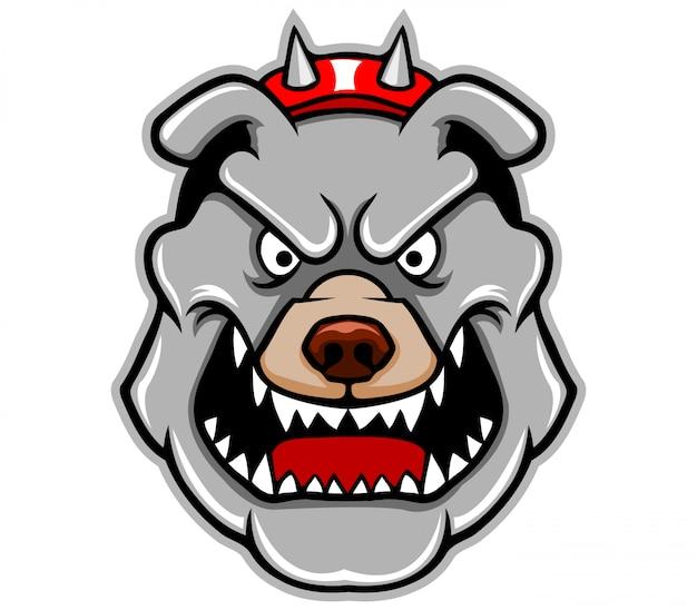 Illustration des pitbull-kopfes Premium Vektoren