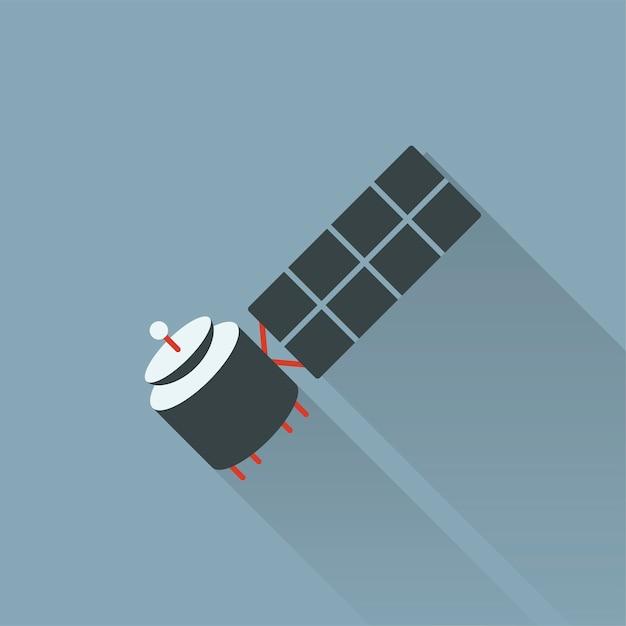 Illustration des satelliten Kostenlosen Vektoren