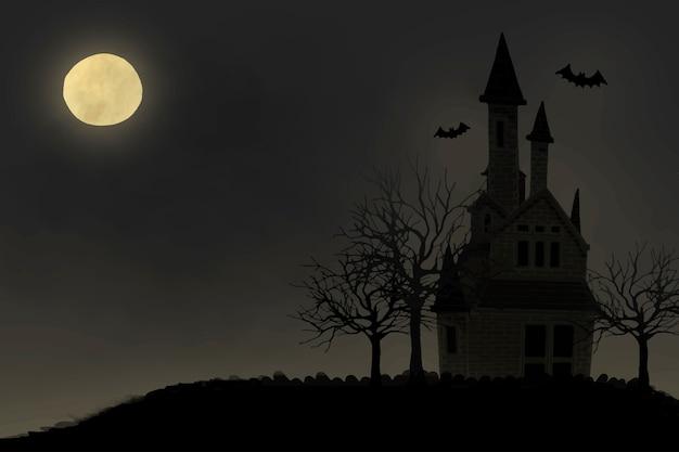 Illustration des themenorientierten hintergrundes halloweens Kostenlosen Vektoren