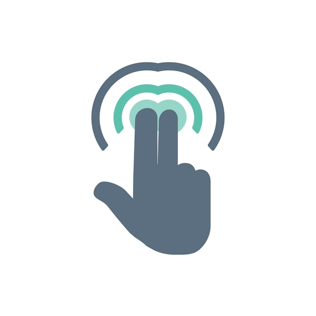 Illustration des touch screen handzeichens Kostenlosen Vektoren