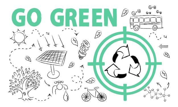 Illustration des umweltkonzeptes Kostenlosen Vektoren