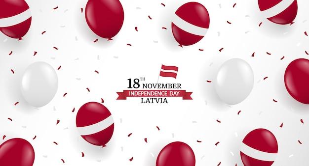 Illustration des unabhängigkeitstags von lettland. Premium Vektoren
