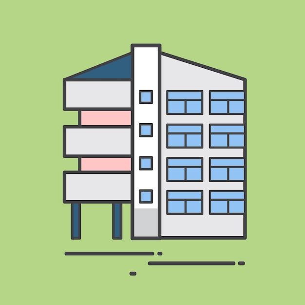 Illustration eines wohngebäudes Kostenlosen Vektoren
