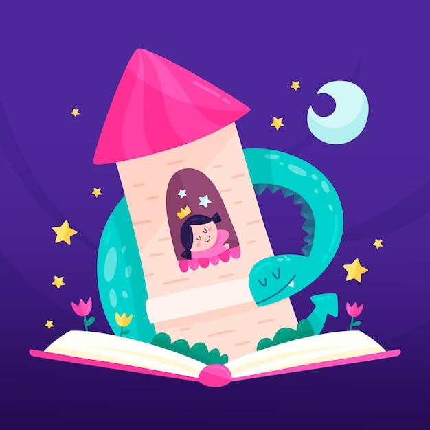 Illustration mit märchenkonzept Kostenlosen Vektoren