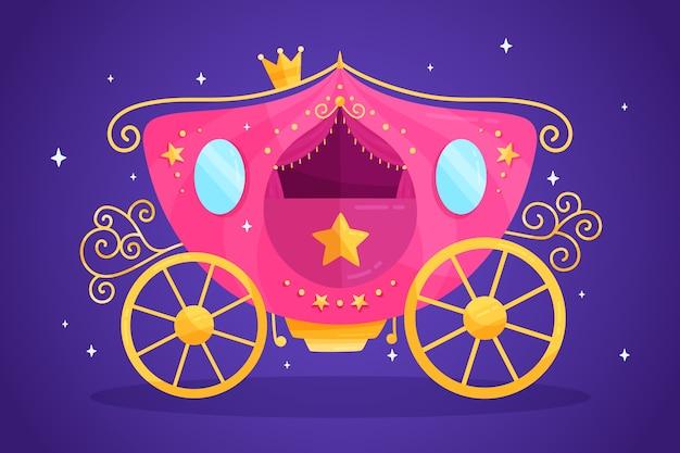 Illustration mit märchenwagen Kostenlosen Vektoren