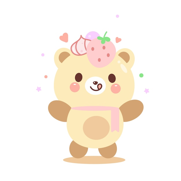 Illustration niedlichen teddybär Premium Vektoren