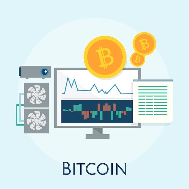 Illustration von bitcoin-konzept Kostenlosen Vektoren