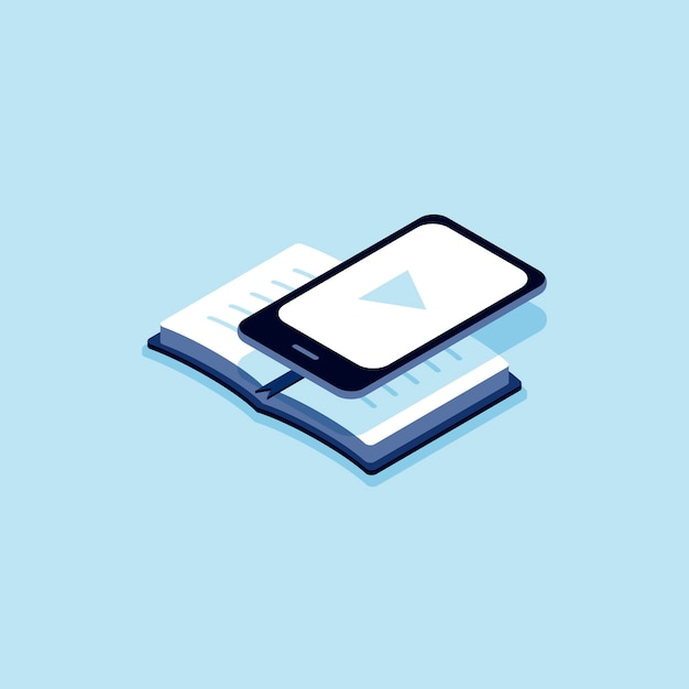 Illustration von e-buch Kostenlosen Vektoren