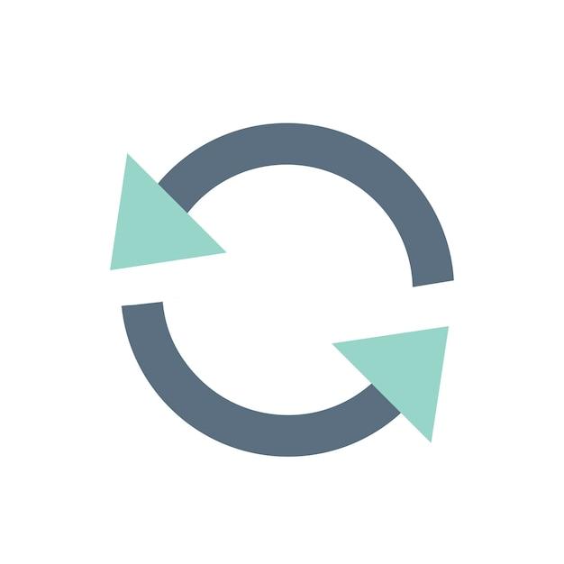 Illustration von erneuern ikone Kostenlosen Vektoren