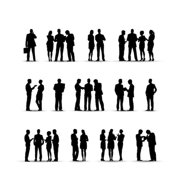 Illustration von geschäftsleuten Kostenlosen Vektoren