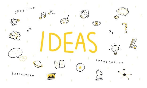 Illustration von glühlampeideen Kostenlosen Vektoren