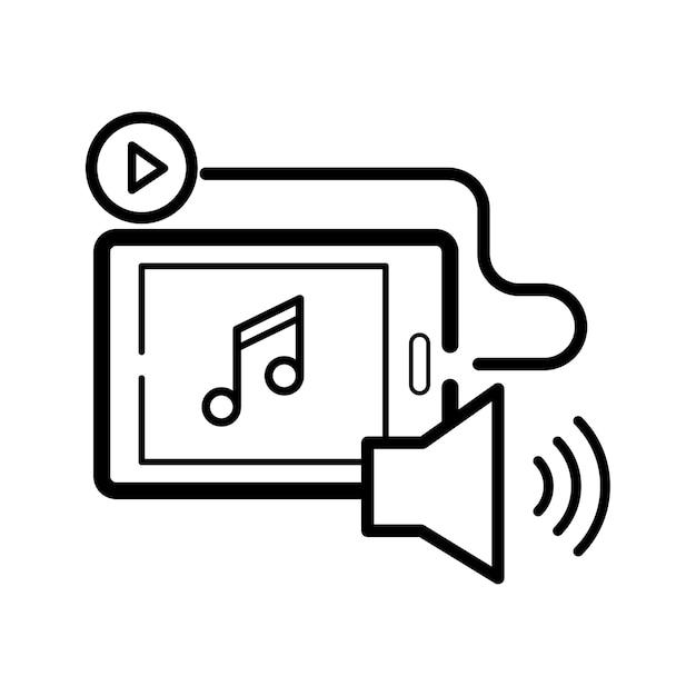 Illustration von musikunterhaltung Kostenlosen Vektoren