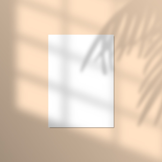 Illustration von papier mit realistischem tropischen schattenüberlagerungseffekt. Premium Vektoren