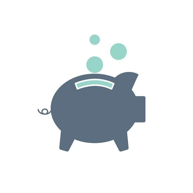 Illustration von piggt bank Kostenlosen Vektoren