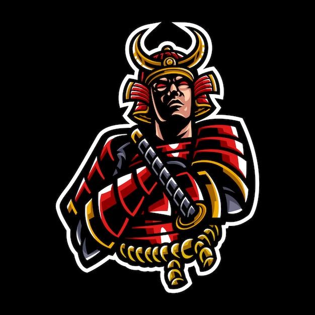 Illustration von samurai Premium Vektoren