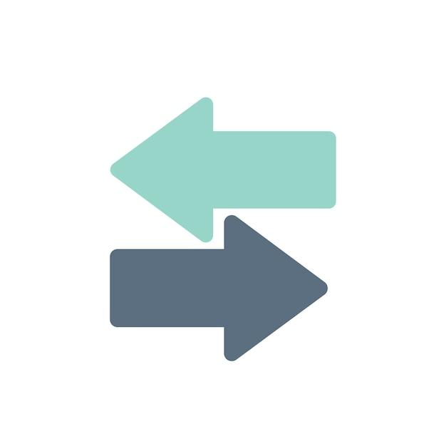 Illustration von schalterpfeilen Kostenlosen Vektoren