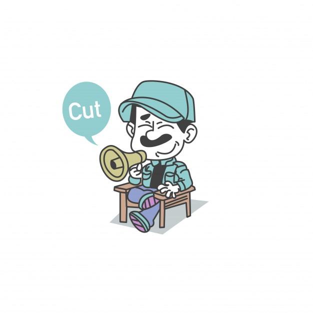 Illustration von süßem der direktor charakter Premium Vektoren