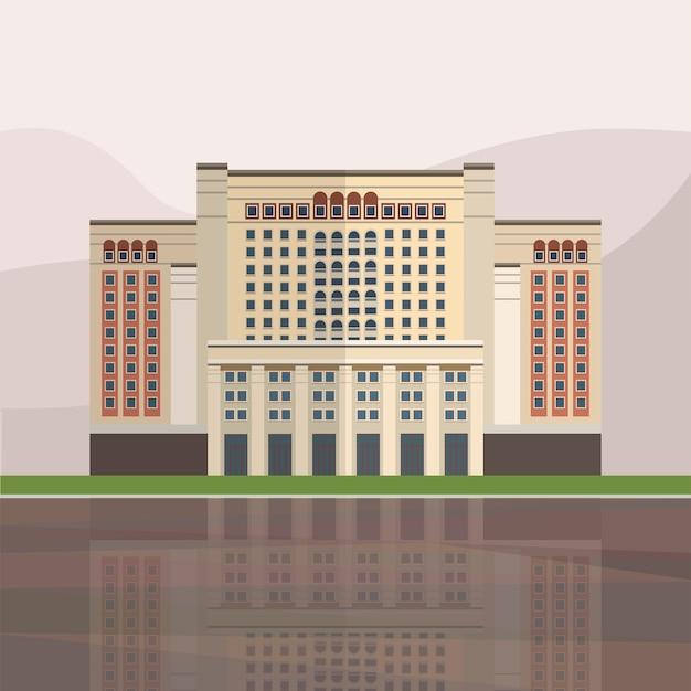 Illustration von vier jahreszeiten hotel moskau Kostenlosen Vektoren