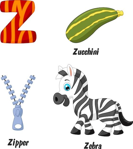 Illustration von z-alphabet Premium Vektoren