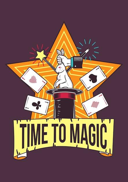 Illustration von zaubertricks Kostenlosen Vektoren