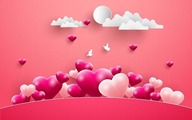 Illustrationen von liebe und valentinstag Premium Vektoren