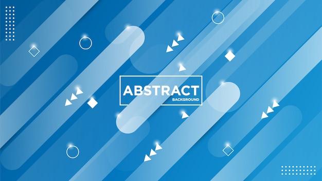 Illustrationsgrafik des modernen abstrakten geometrischen hintergrunds Premium Vektoren