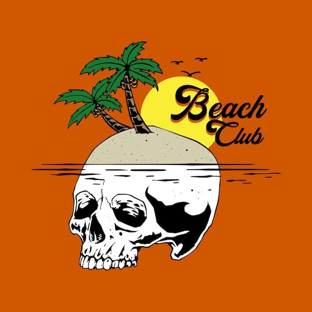 Illustrationskonzept des strandclubs Premium Vektoren