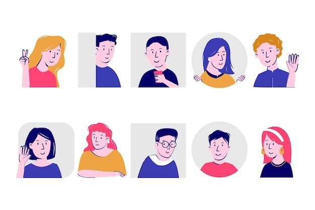 Illustrationskonzept mit menschen gucken Premium Vektoren