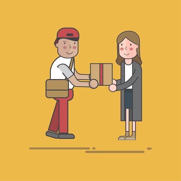 Illustrationssatz der postlieferung Kostenlosen Vektoren