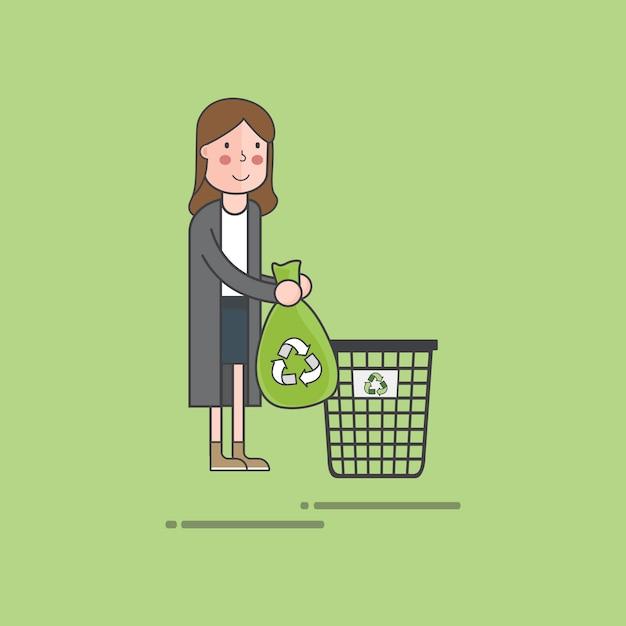 Illustrationssatz des umweltvektors Kostenlosen Vektoren