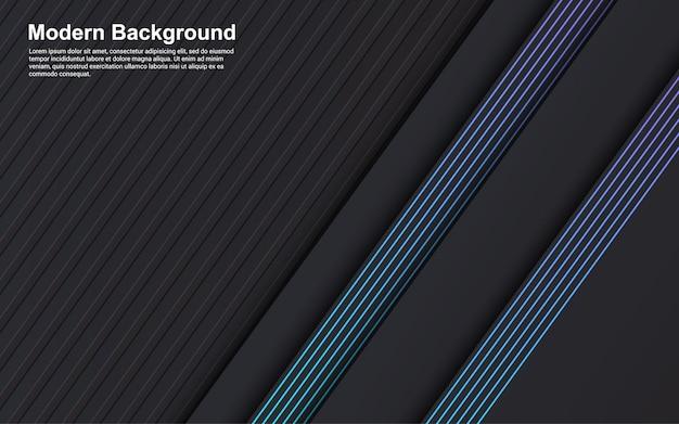 Illustrationsvektorgrafik der abstrakten hintergrundschwarzfarbe und der blauen linie Premium Vektoren