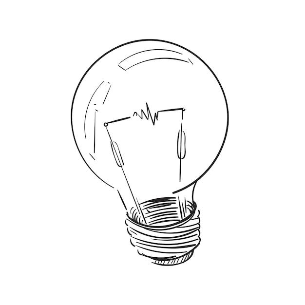 Illustrationszeichnung der glühlampe Kostenlosen Vektoren