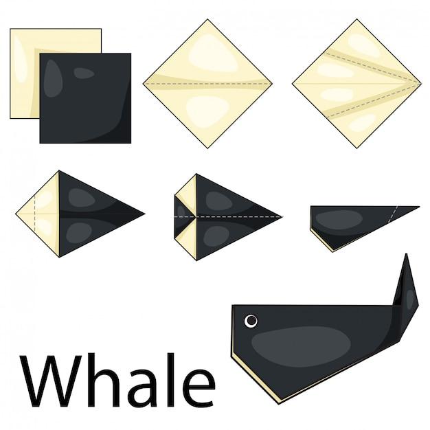 Illustrator des origamiwals Premium Vektoren