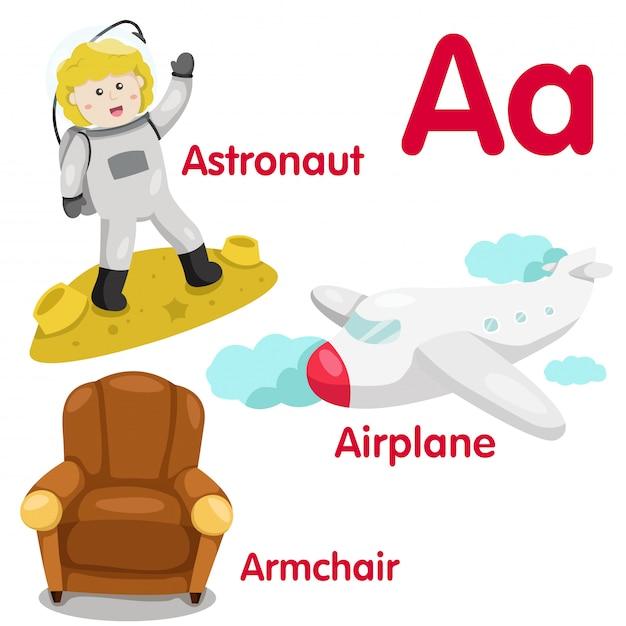 Illustrator eines alphabets Premium Vektoren