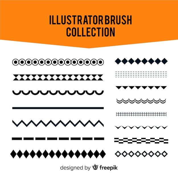 Illustrator-pinselsammlung Kostenlosen Vektoren
