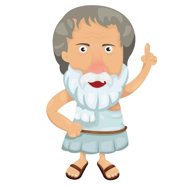Illustrator von aristoteles Premium Vektoren