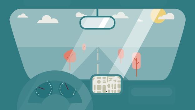 Im autoinnenraum Premium Vektoren