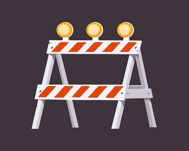 Im bau befindliche barriere. warnbarriere. illustration. Premium Vektoren