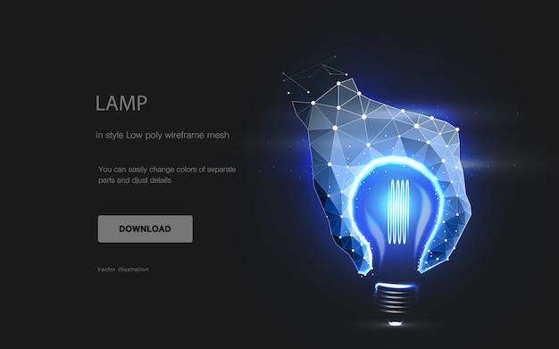 Imitation der lampe, Premium Vektoren