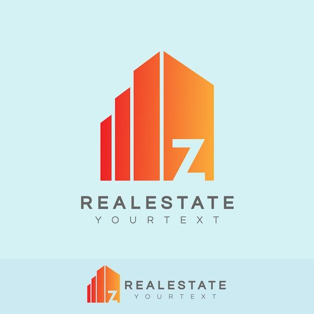 Immobilien anfangsbuchstabe z logo design Premium Vektoren