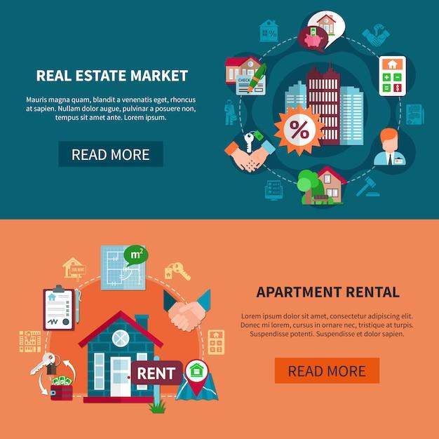 Immobilien-banner-set Kostenlosen Vektoren