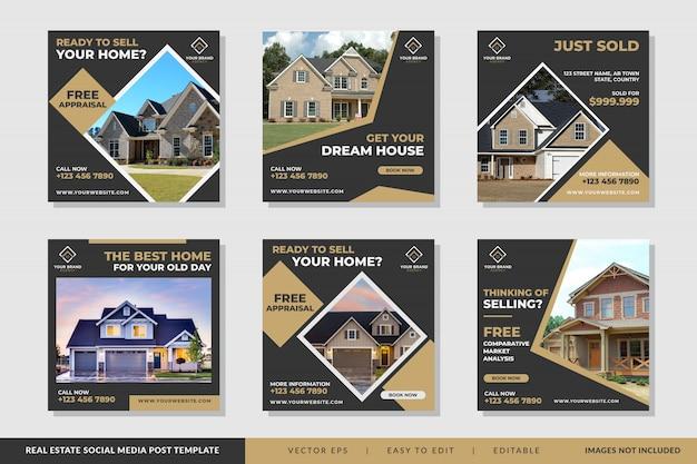 Immobilien banner vorlage vektor Premium Vektoren