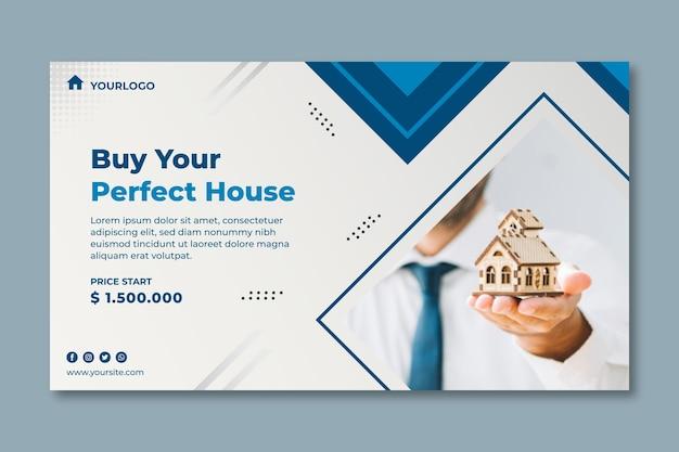 Immobilien-banner-vorlage Premium Vektoren