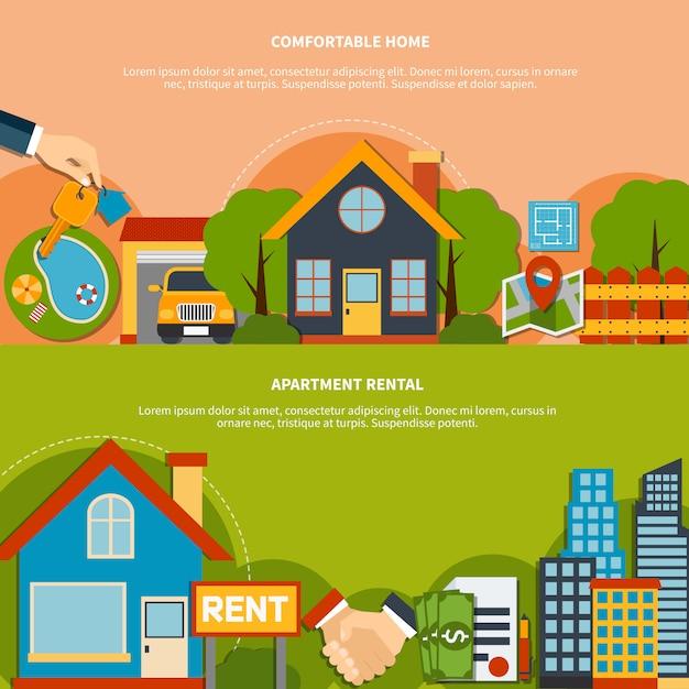 Immobilien-banner Kostenlosen Vektoren